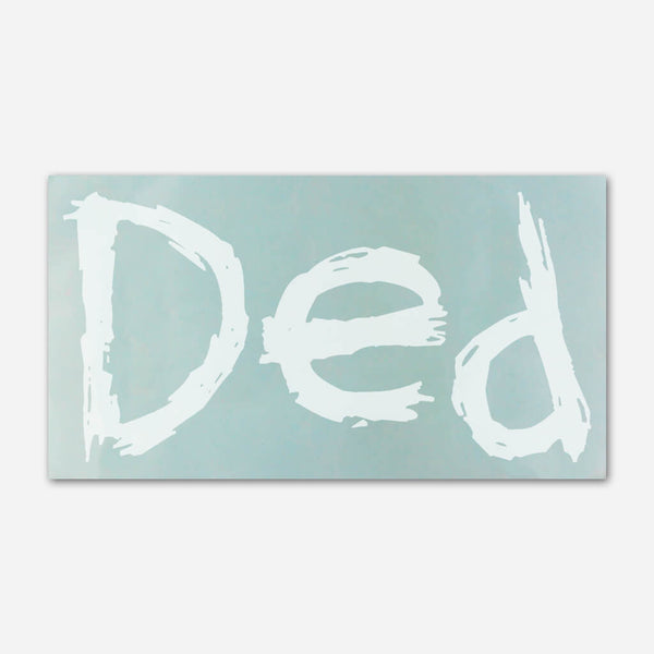 Ded Scribble Window Decal by Ded for sale on hellomerch.com
