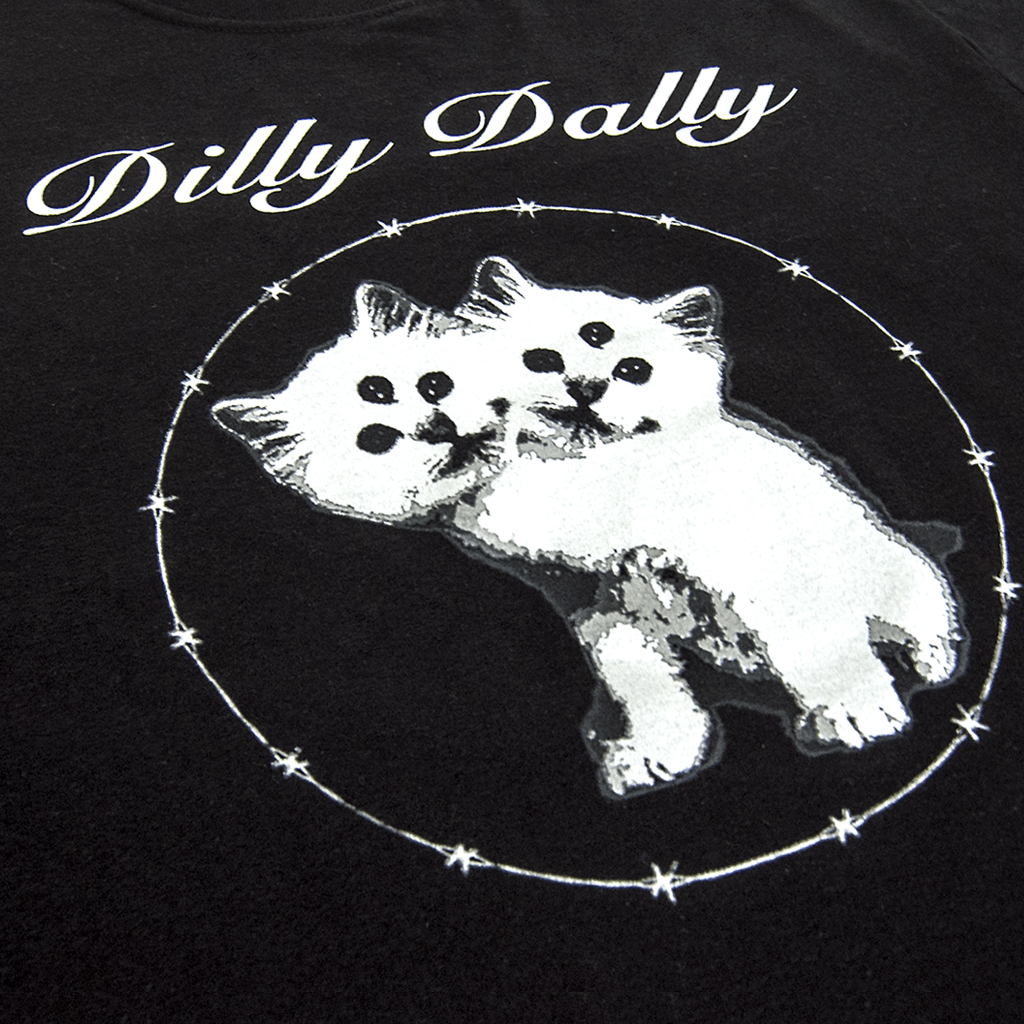 Demon Cat Black T-Shirt - Dilly Dally - Hello Merch