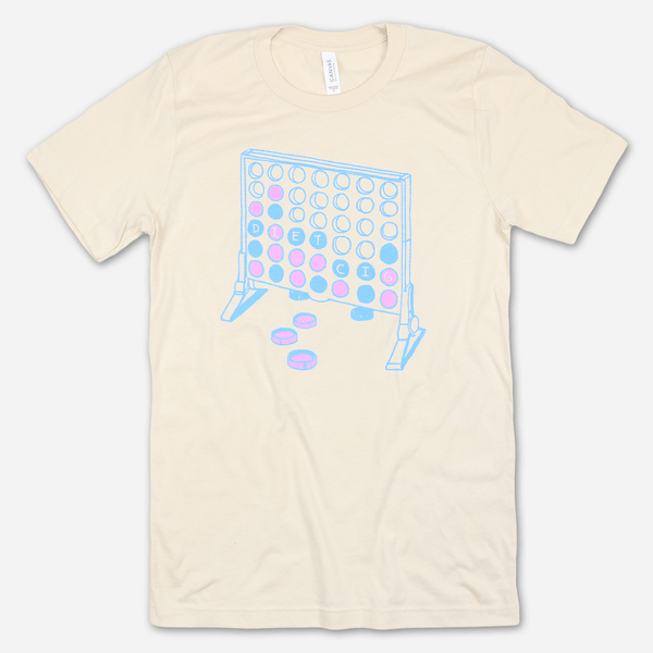 Connect Four Cream T-Shirt by Diet Cig for sale on hellomerch.com