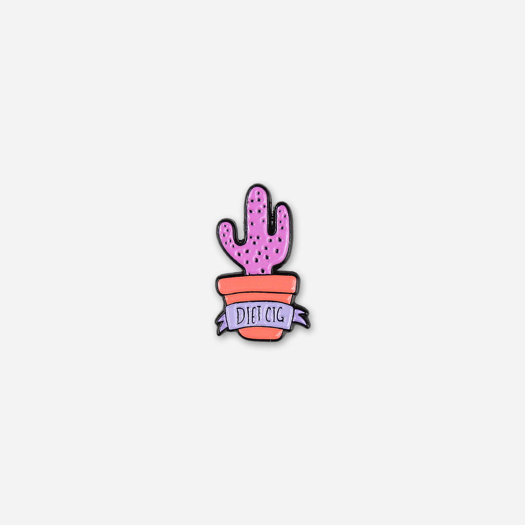 Purple Cactus Enamel Pin - Diet Cig - Hello Merch