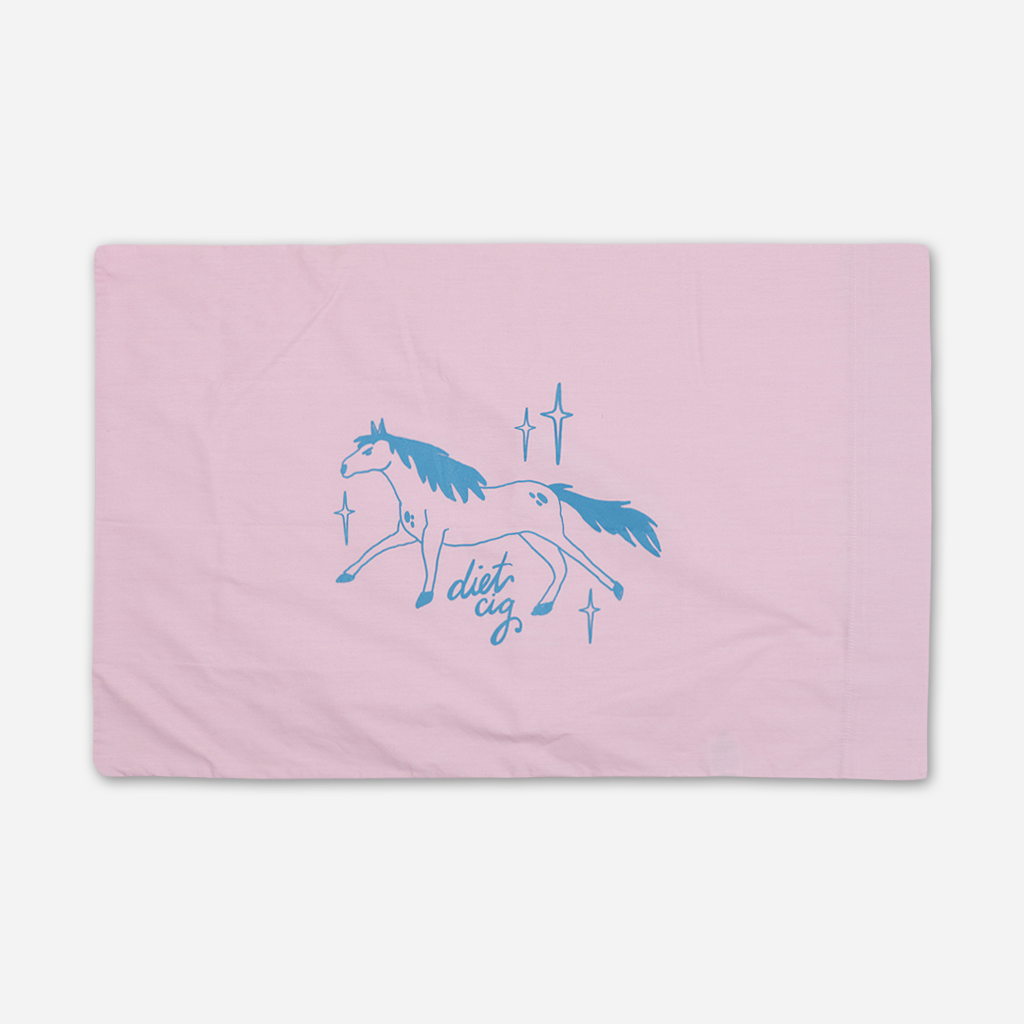 Pissed Pony Rose Pillowcase