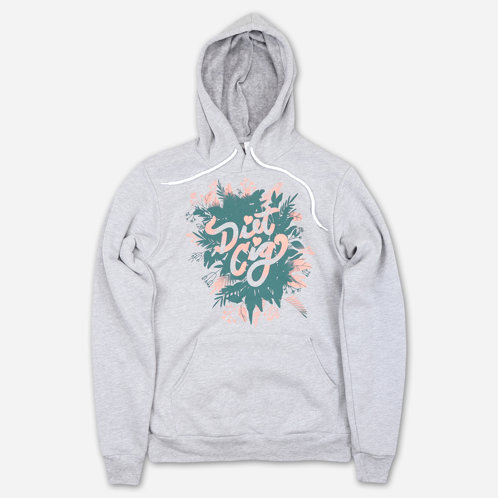 Plant Logo Heather Grey Pullover Hoodie
