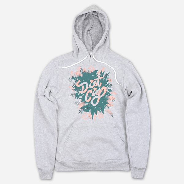Plant Logo Heather Grey Pullover Hoodie by Diet Cig for sale on hellomerch.com
