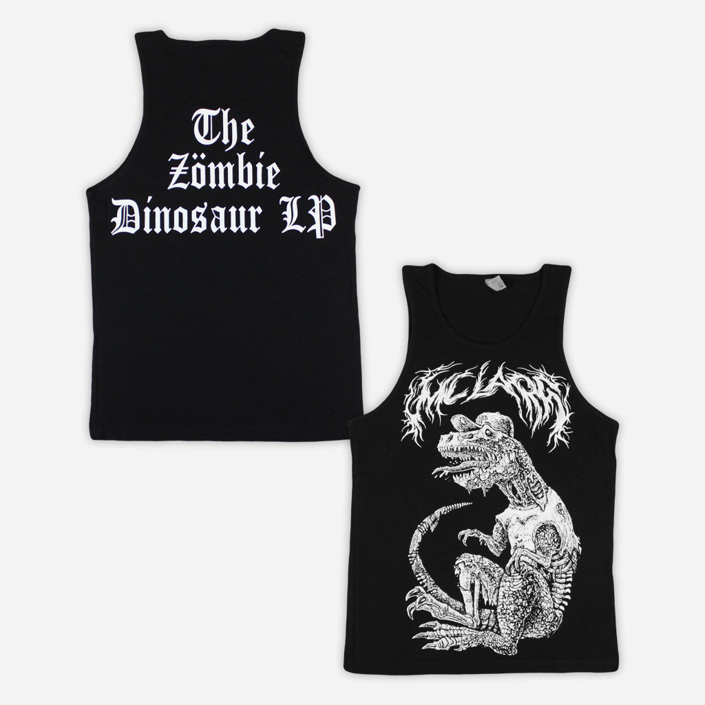 """Zombie T-Rex"" Black Tank Top"