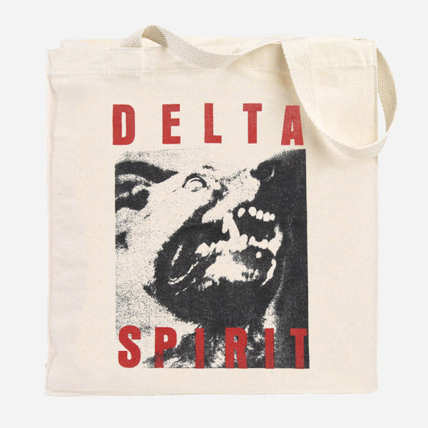 Dog Natural Canvas Tote Bag by Delta Spirit for sale on hellomerch.com
