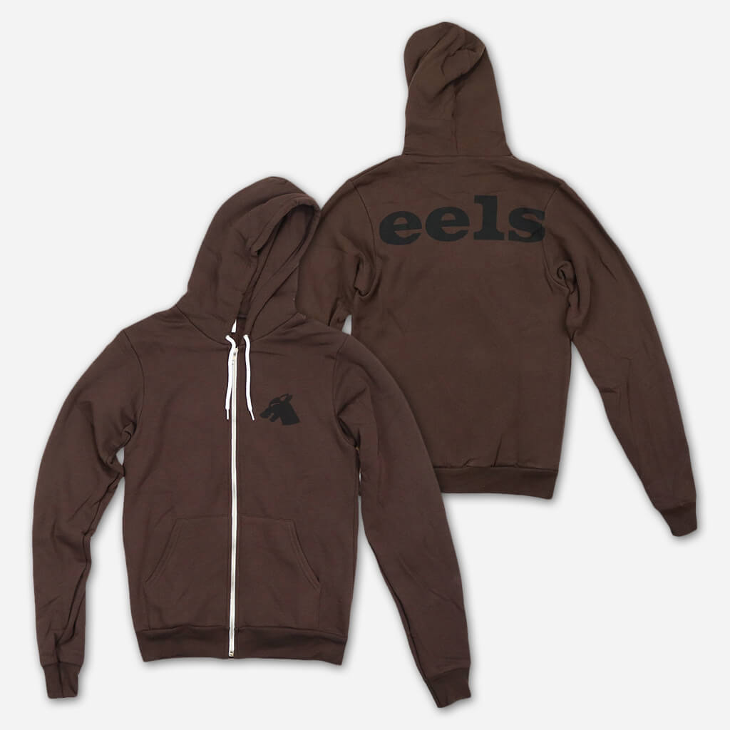 Wolf Brown Zip Hoodie - Eels - Hello Merch