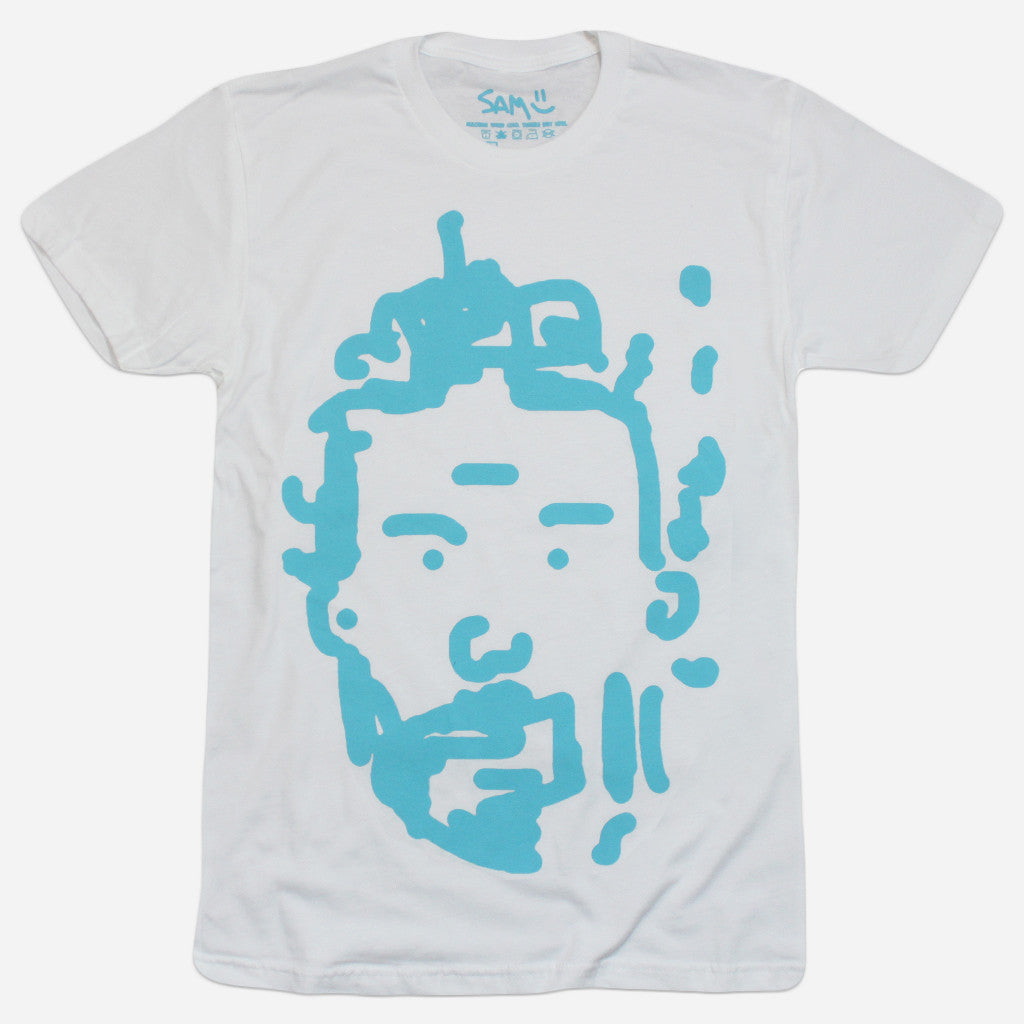 Sam Doodle White T-Shirt - Sam Means - Hello Merch
