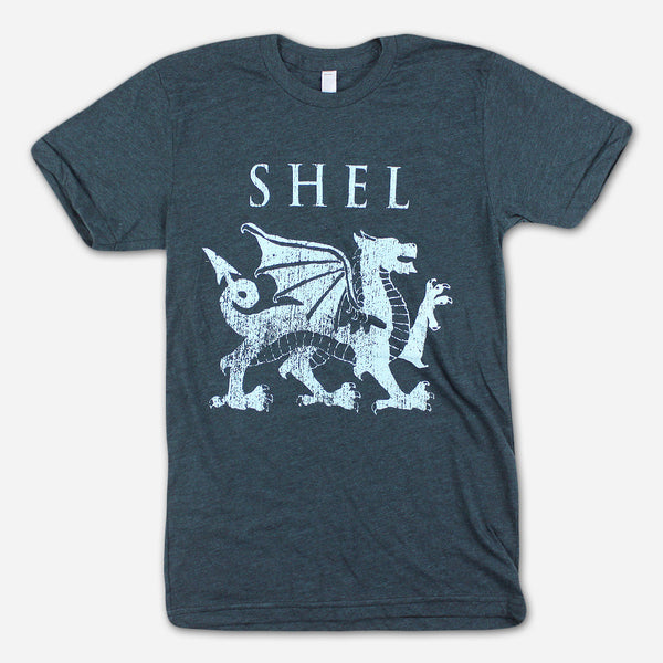Dragon Black Aqua T-Shirt by SHEL for sale on hellomerch.com