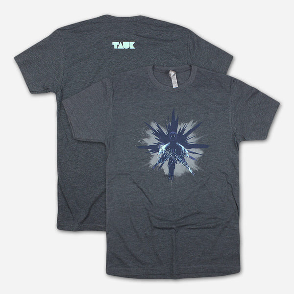 Sir Nebula Crystal Dark Heather Grey T-Shirt by TAUK for sale on hellomerch.com