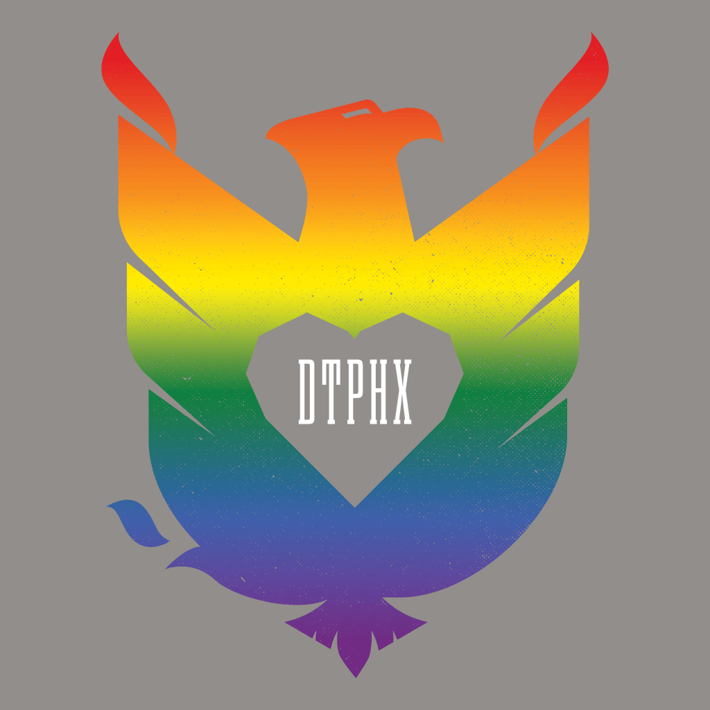 Limited Edition Rainbow DTPHX Bird Grey V-Neck Tri-Blend