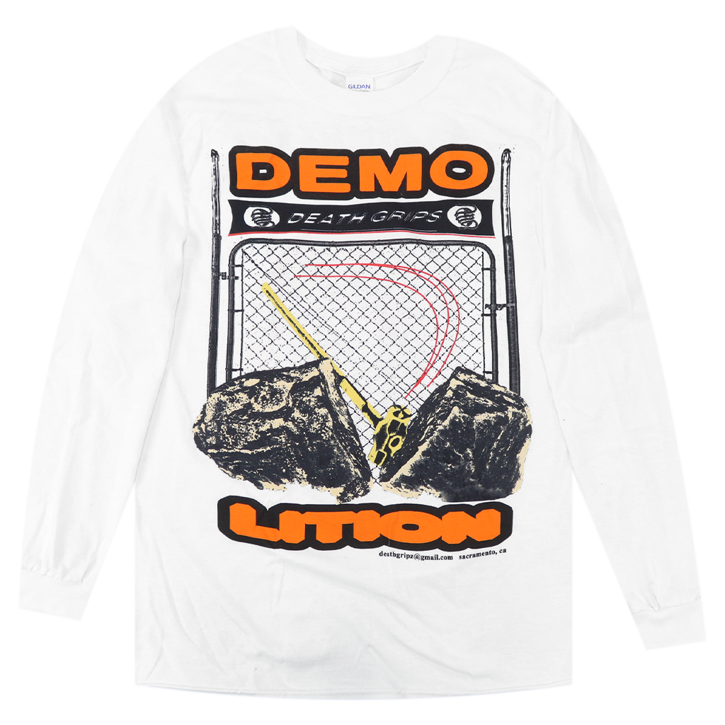 Demolition White Long Sleeve T-Shirt