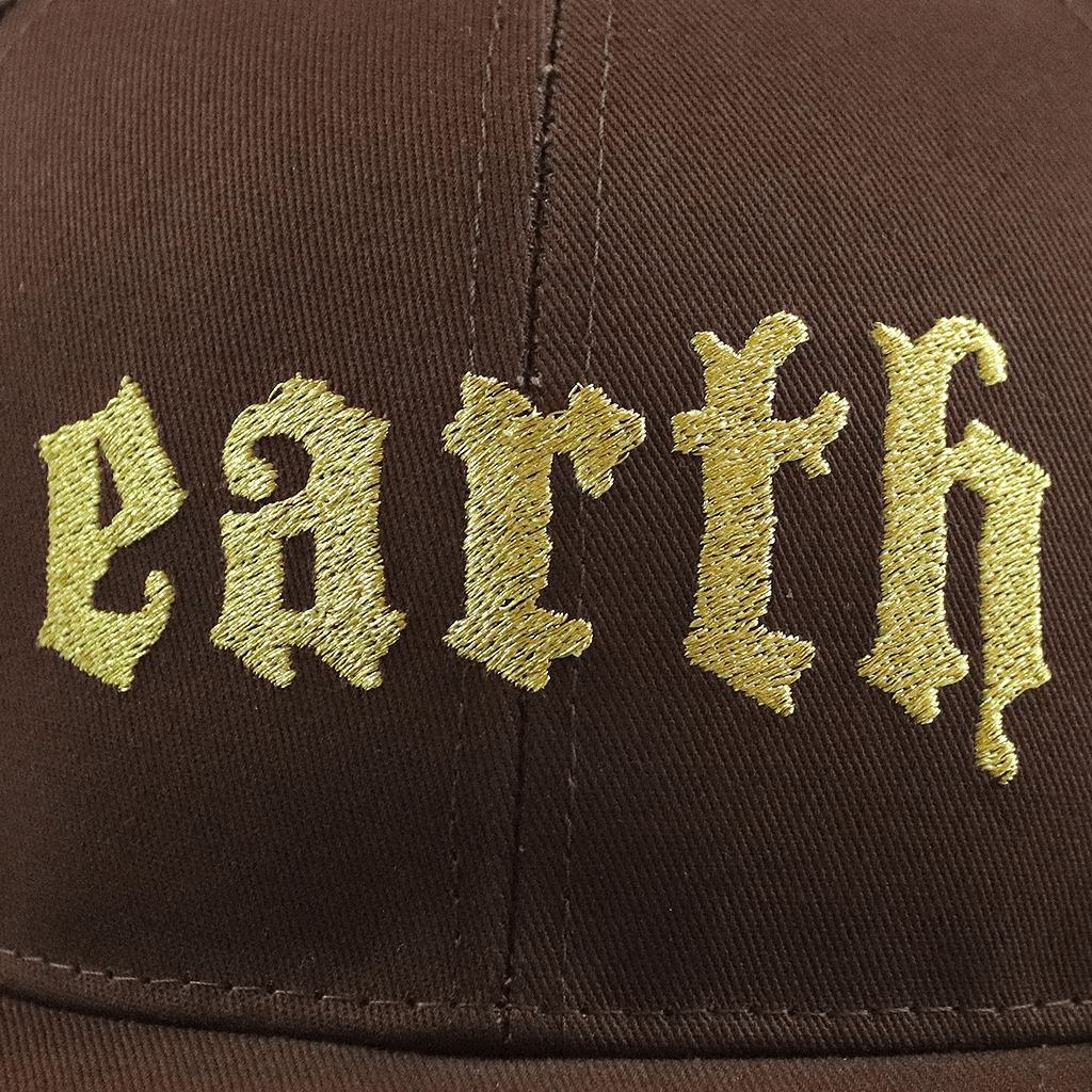 Earth Embroidered Snapback Trucker Hat