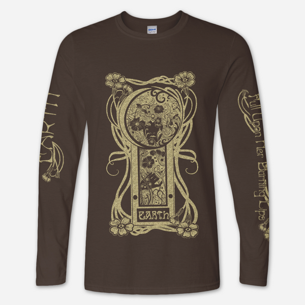 FUHBL Long Sleeve Dark Chocolate T-Shirt by Earth for sale on hellomerch.com