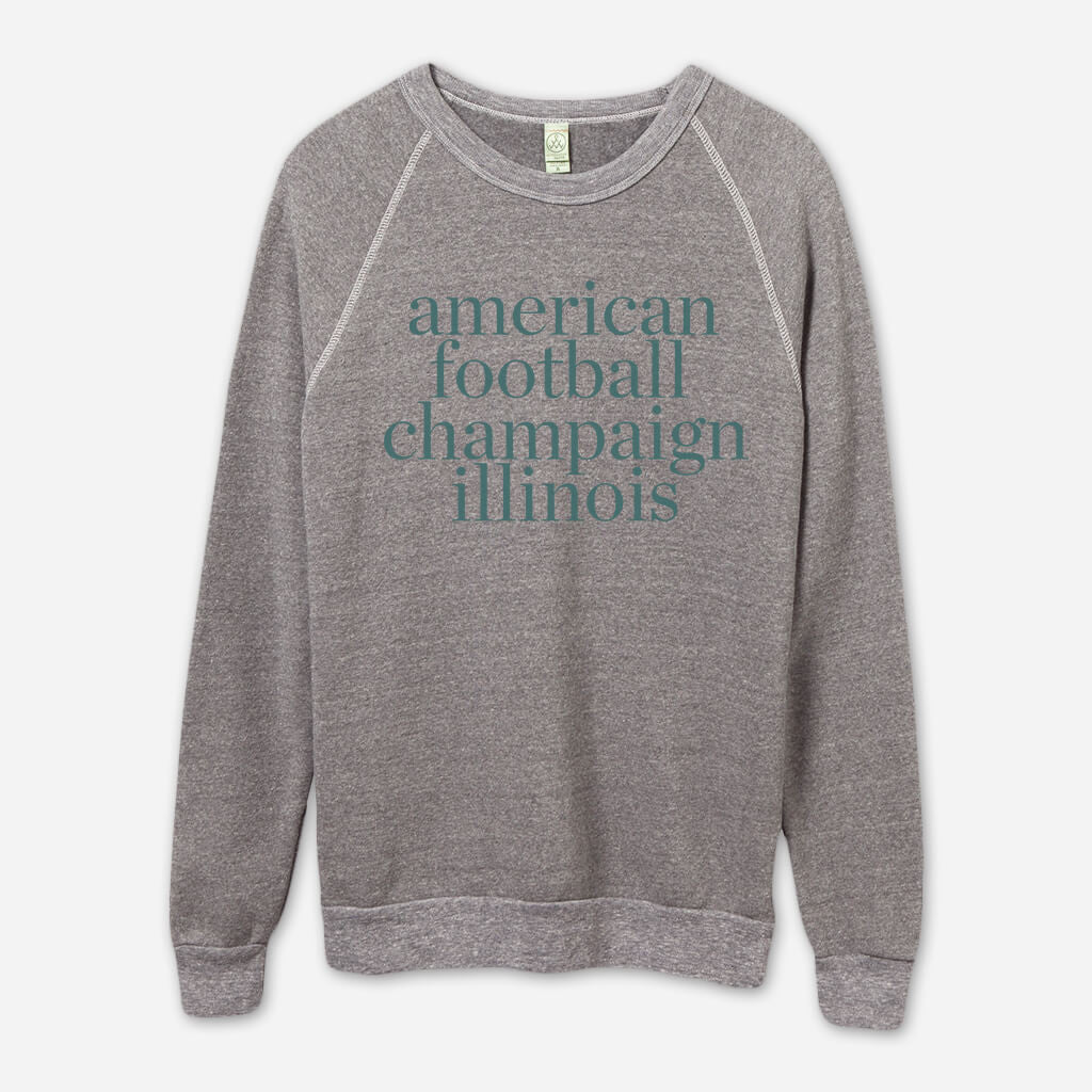AF Champaign, IL Eco-Grey Champ Pullover - American Football - Hello Merch