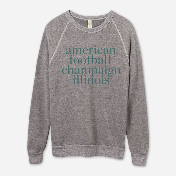 AF Champaign, IL Eco-Grey Champ Pullover by American Football for sale on hellomerch.com