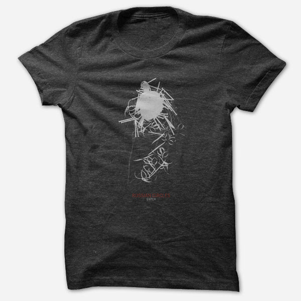Enter Black Tri-Blend T-Shirt by Russian Circles for sale on hellomerch.com