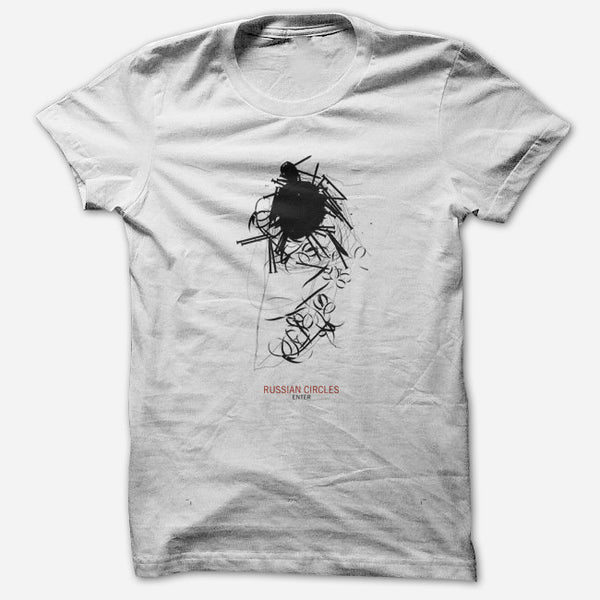 Enter White T-Shirt by Russian Circles for sale on hellomerch.com