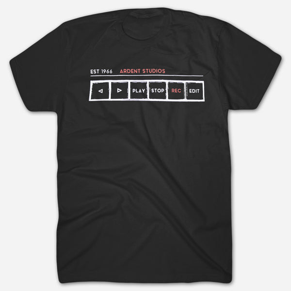 Ardent Music - Tape Machine T-Shirt by Ardent Music for sale on hellomerch.com