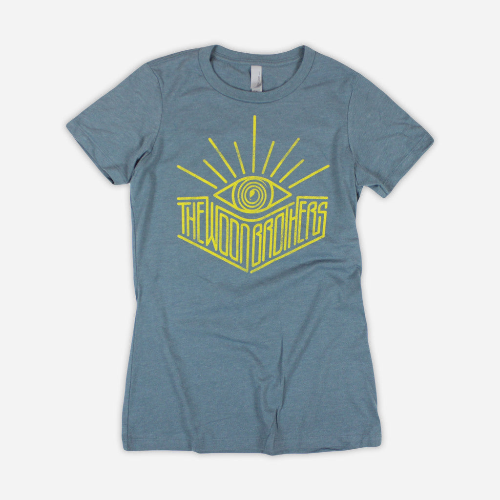 Bright Eyes Indigo T-Shirt - The Wood Brothers - Hello Merch