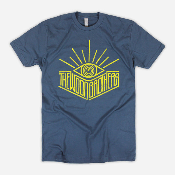 Bright Eyes Indigo T-Shirt by The Wood Brothers for sale on hellomerch.com