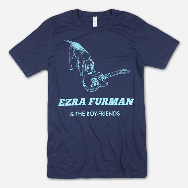 Ezra Dog Navy T-Shirt by Ezra Furman for sale on hellomerch.com
