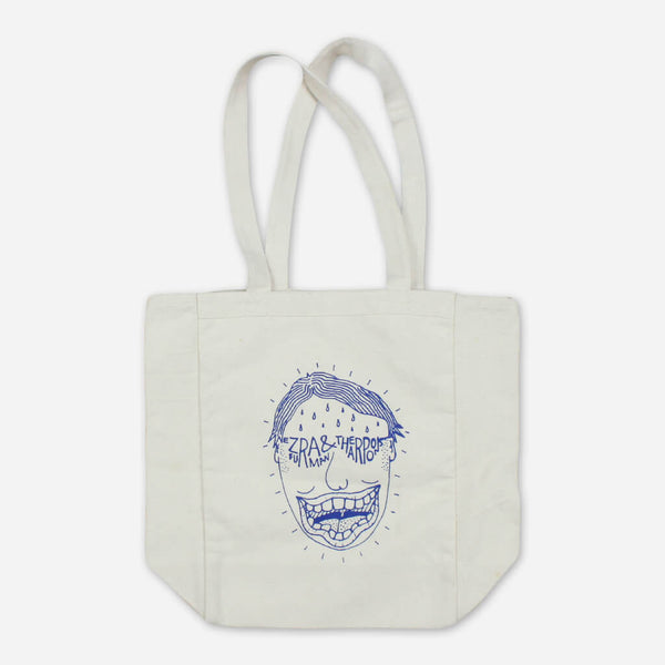 Face Canvas Tote Bag by Ezra Furman for sale on hellomerch.com