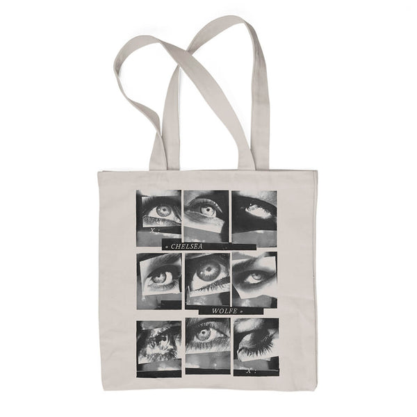 Kraw Eye Object Natural Tote Bag by Chelsea Wolfe for sale on hellomerch.com