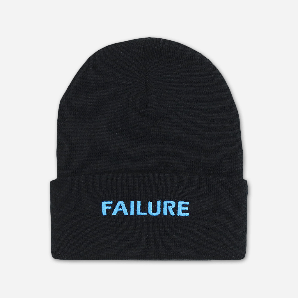 Failure Embroidered Black Beanie