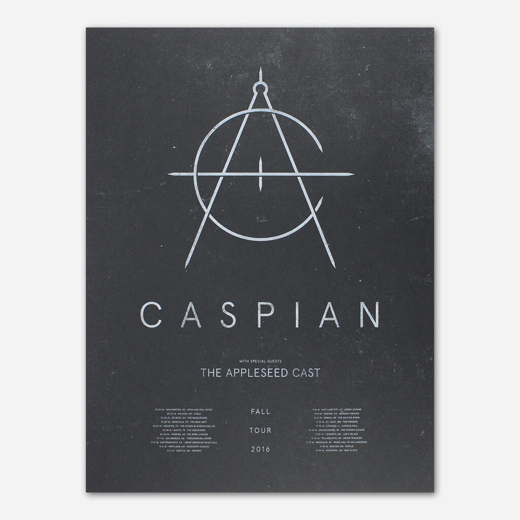 Fall 2016 Tour Poster - Caspian - Hello Merch