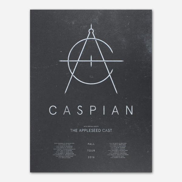 Fall 2016 Tour Poster by Caspian for sale on hellomerch.com