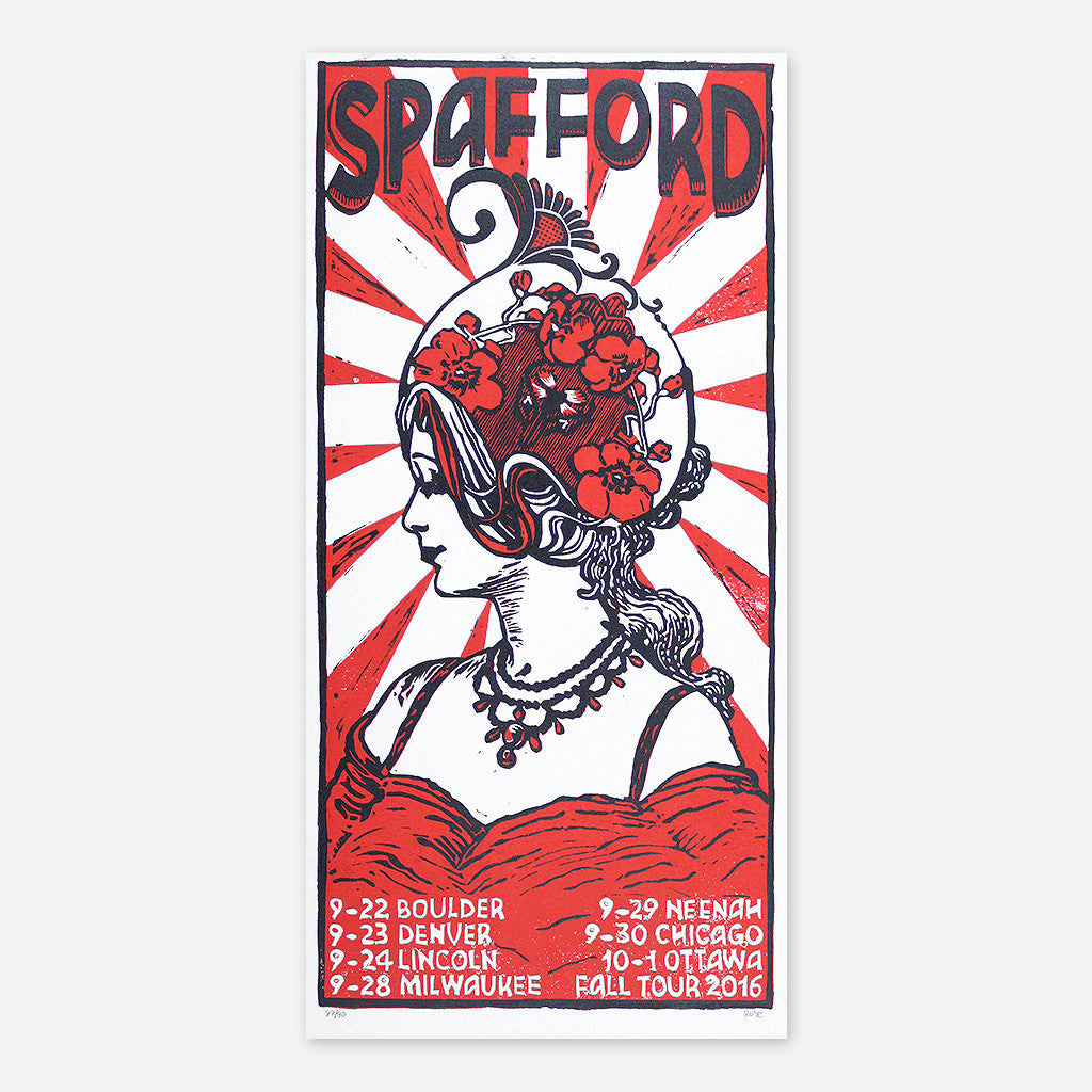 Fall Tour 2016 Poster - Spafford - Hello Merch