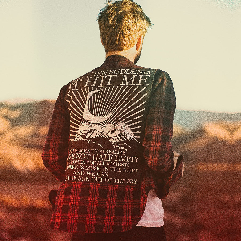Premium Dip Dye HMK Pledge Flannel  - Half Moon Kids - Hello Merch