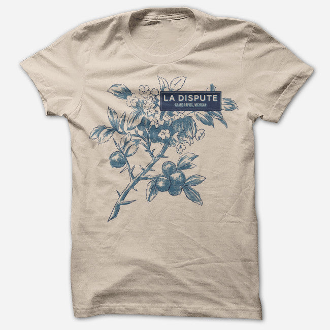 Flora Heather Tan T-Shirt - La Dispute - Hello Merch