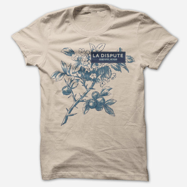 Flora Heather Tan T-Shirt by La Dispute for sale on hellomerch.com