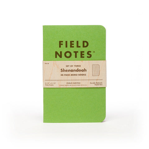 Shenandoah 3-Pack by Field Notes for sale on hellomerch.com