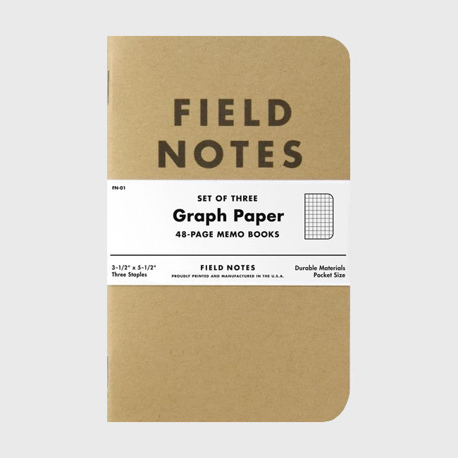 Graph Paper 3-Pack - Field Notes - Hello Merch