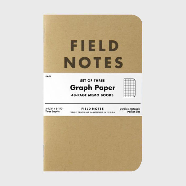 Graph Paper 3-Pack by Field Notes for sale on hellomerch.com