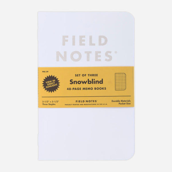 Snowblind: Graph Paper 3-Pack by Field Notes for sale on hellomerch.com
