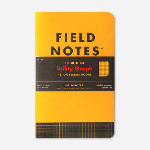 Ultility: Graph Paper 3-Pack by Field Notes for sale on hellomerch.com