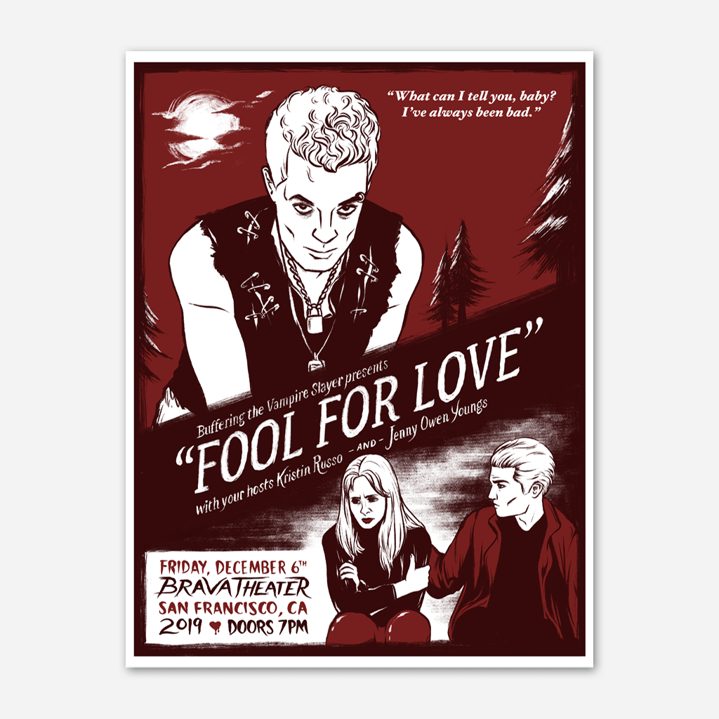 Limited Edition Fool For Love Poster
