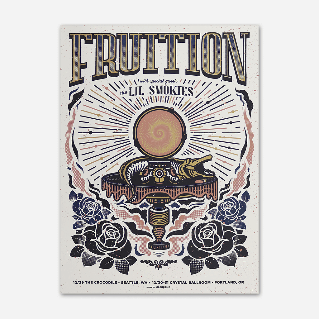 Fruition w/ Lil Smokies Poster NYE 2018 Screenprinted Poster - Fruition - Hello Merch