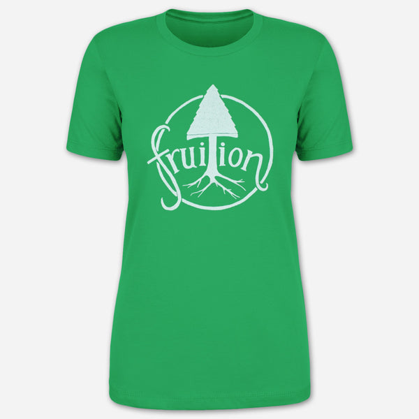 Tree Kelly Green Women's T-Shirt by Fruition for sale on hellomerch.com