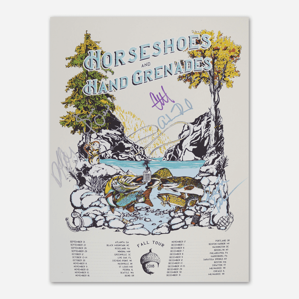 Fall Tour 2018 Poster by Horseshoes and Hand Grenades for sale on hellomerch.com
