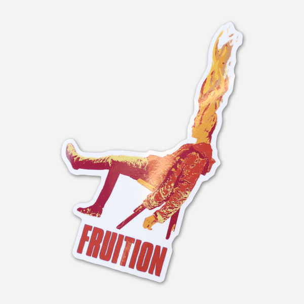 Flaming Man Sticker by Fruition for sale on hellomerch.com