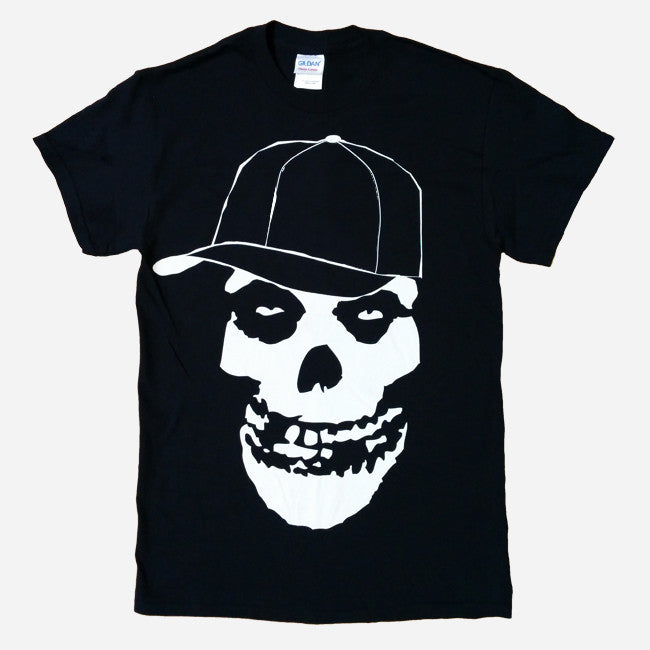 """Gangster Skull"" Black T-Shirt"