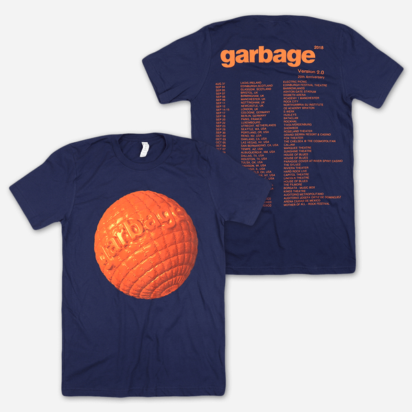 Globe Navy Tour T-Shirt by Garbage for sale on hellomerch.com