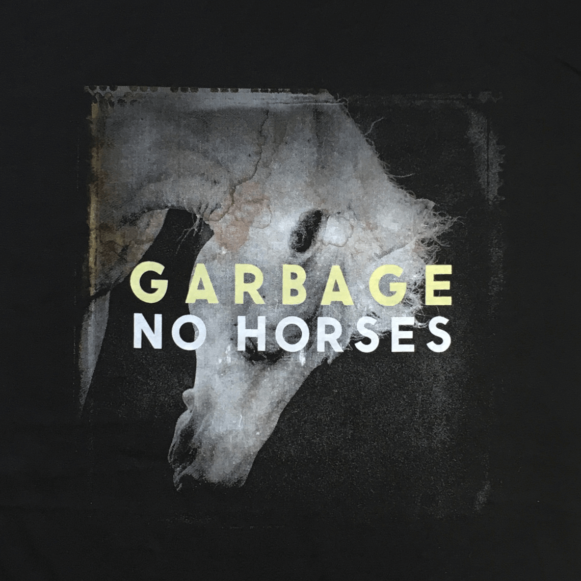 No Horses Black T-Shirt