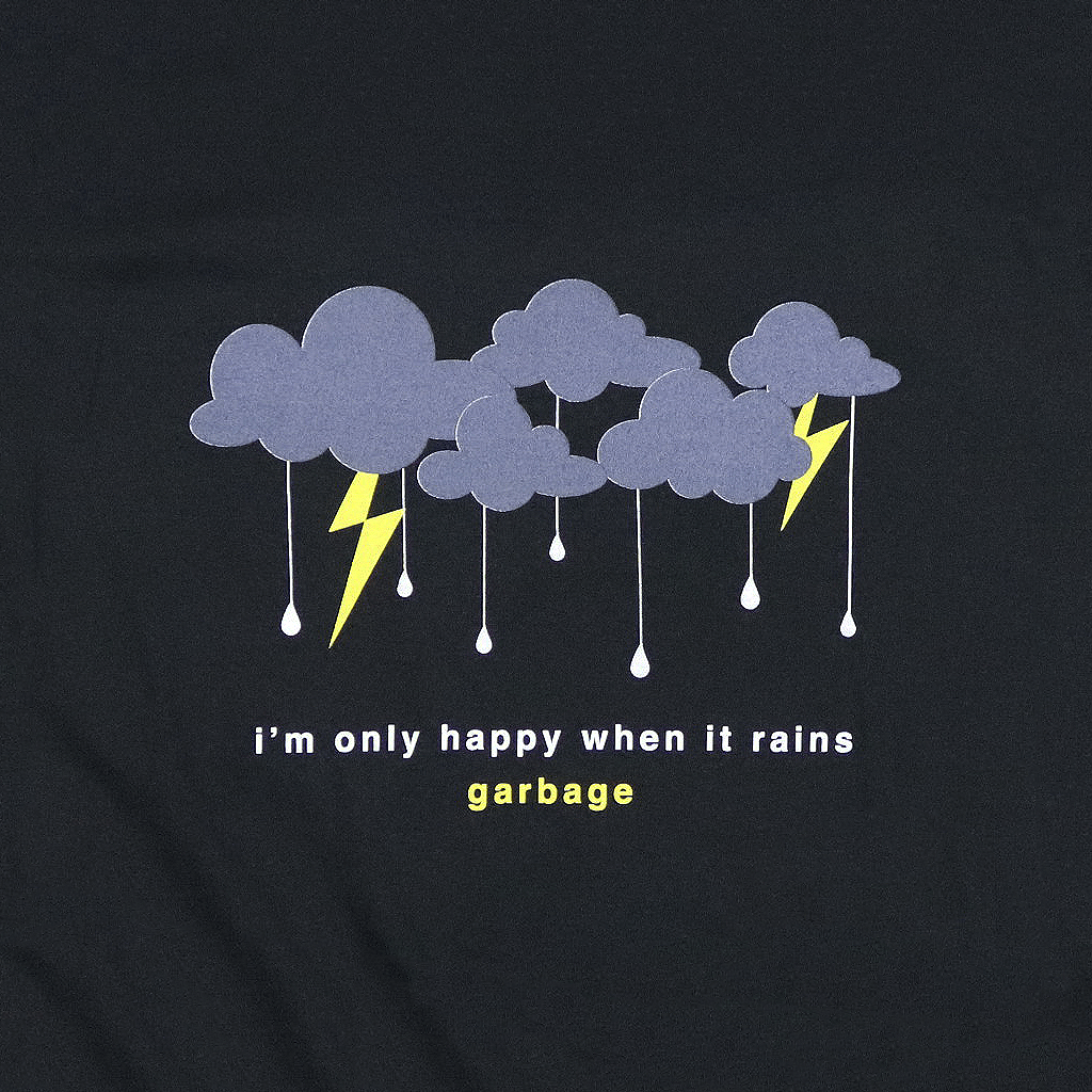 Only Happy When It Rains Black T-Shirt