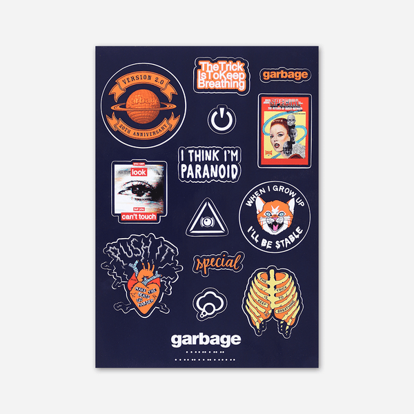 Garbage Die Cut Sticker Sheet by Garbage for sale on hellomerch.com