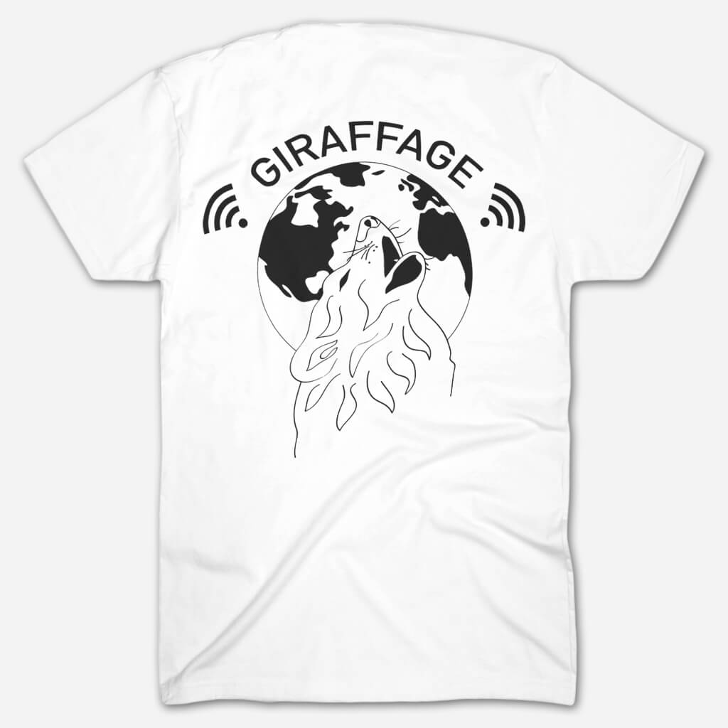 Wolf White T-Shirt - Giraffage - Hello Merch